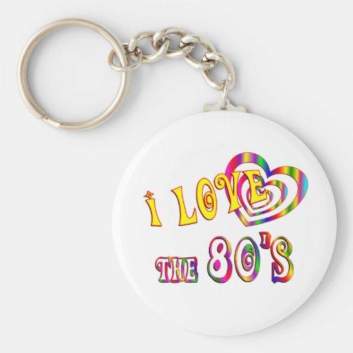 I Love the 80s Key Chains