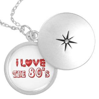 I Love the 80's Locket Necklace