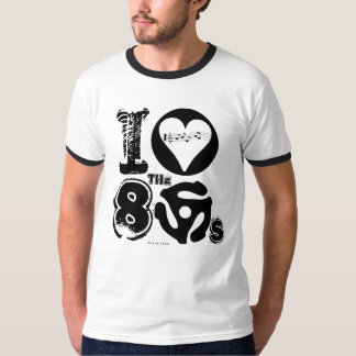 I Love The 80s Music T-Shirt 45 RPM