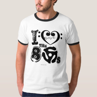 I Love The 80s Music T-Shirt Bass Clef