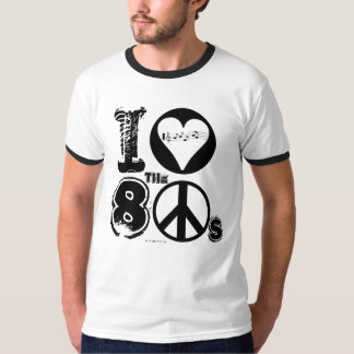 I Love The 80s Music T-Shirt Peace
