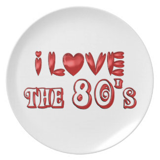 I Love the 80's Plate