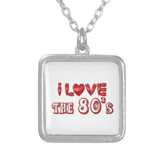 I Love the 80's Silver Plated Necklace