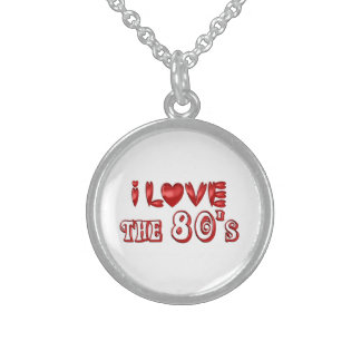 I Love the 80's Sterling Silver Necklace