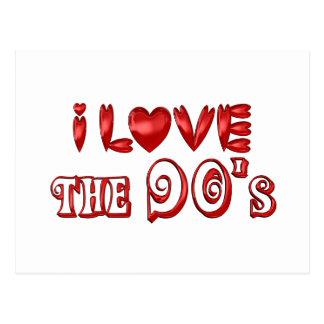 I Love the 90's Postcard