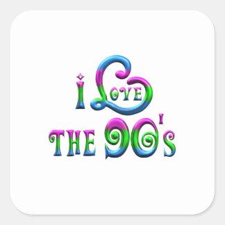 I Love the 90s Square Sticker
