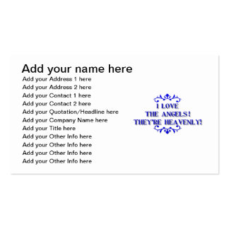I love the Angels! They're Heavenly! Pack Of Standard Business Cards