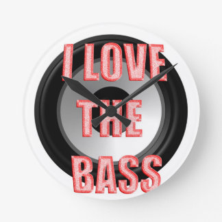 I Love The Bass Wall Clock