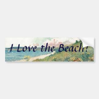 I Love the Beach! Bumper Sticker