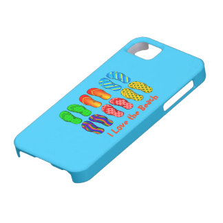 I Love the Beach - Colorful Flip Flops iPhone 5 Cover