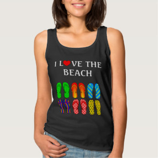 I Love the Beach, Flip Flops in the Sand Tank Top