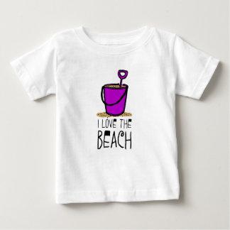 I love the Beach Sand Pail Baby T-Shirt