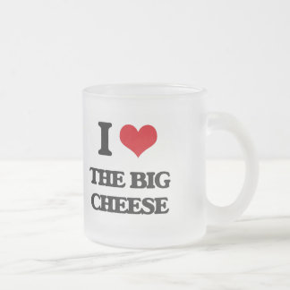 I Love The Big Cheese Frosted Glass Mug
