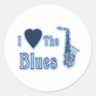 I Love The Blues Classic Round Sticker