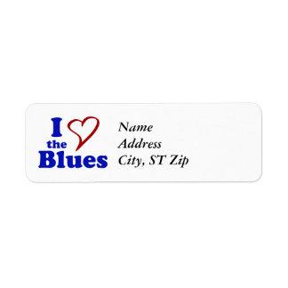 I Love The Blues Return Address Label