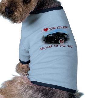 I love the classics doggie tee shirt