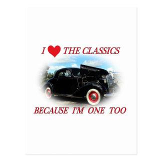 I love the classics postcards