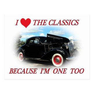 I love the classics postcard