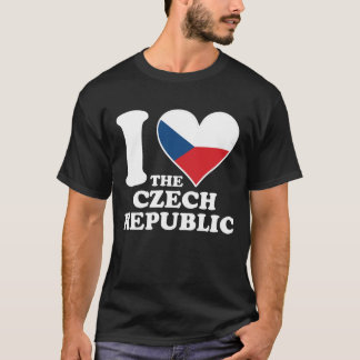 I Love the Czech Republic Czech Flag Heart T-Shirt