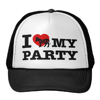 I love the Democratic party Trucker Hats