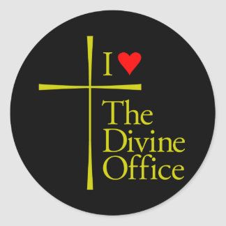 I Love The Divine Office Classic Round Sticker