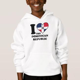 I Love the Dominican Republic Dominican Flag Heart