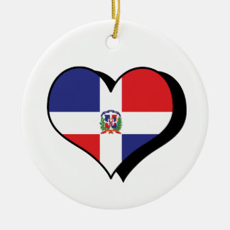 I Love The Dominican Republic Ornament