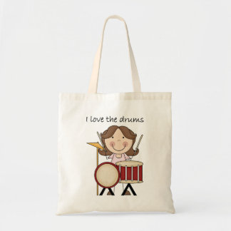 I Love The Drums Kids Music Gift Tote Bag