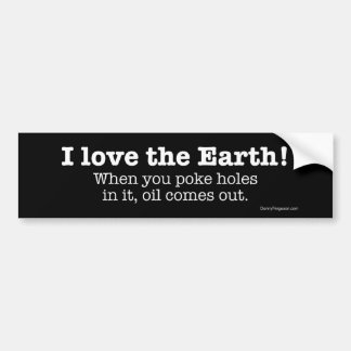 I Love The Earth Bumper Sticker