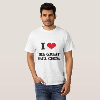 I Love The Great Wall China T-Shirt