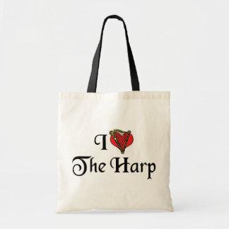 I Love The Harp Tote Bag