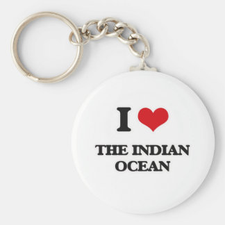 I Love The Indian Ocean Keychain