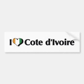 I Love The Ivory Coast Flag Bumper Sticker