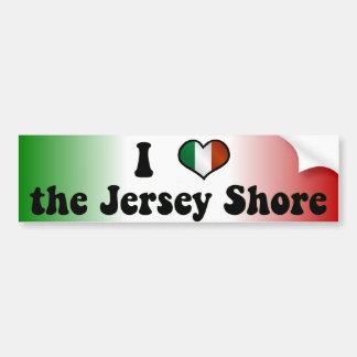 I Love the Jersey Shore Bumper Sticker