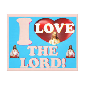 I Love The Lord! Canvas Print