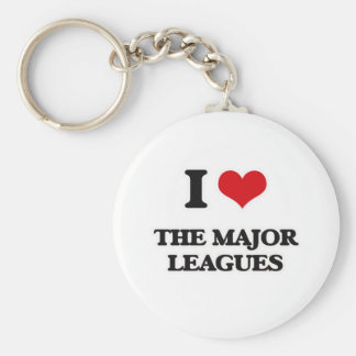 I Love The Major Leagues Keychain