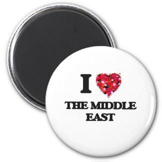 I love The Middle East 2 Inch Round Magnet