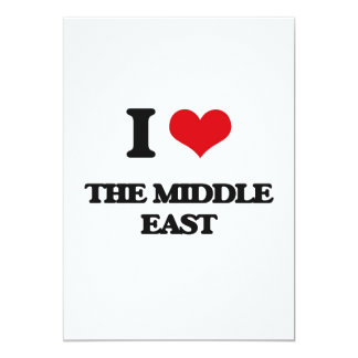 "I Love The Middle East 5"" X 7"" Invitation Card"