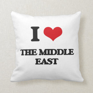 I Love The Middle East Pillow