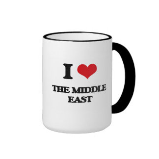 I Love The Middle East Ringer Mug