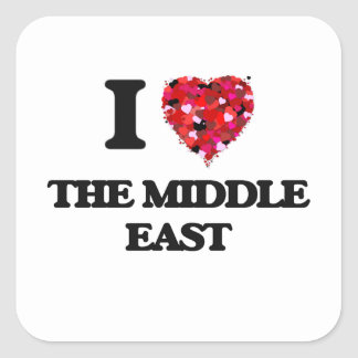 I love The Middle East Square Sticker