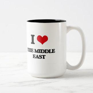 I Love The Middle East Two-Tone Mug