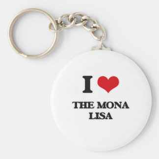 I Love The Mona Lisa Keychain