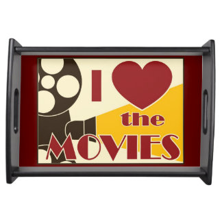 I Love the Movies Serving Tray