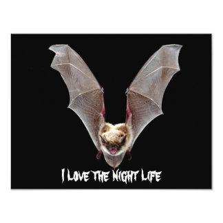 """I Love The Night Life! - Party Invitation 4.25"""" X 5.5"""" Invitation Card"""