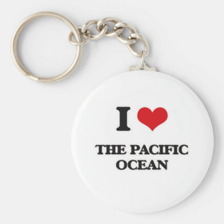 I Love The Pacific Ocean Keychain