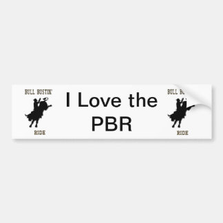"""I Love the PBR"" Western Rodeo Bumper Sticker"
