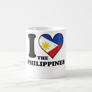 I Love the Philippines Filipino Flag Heart Coffee Mug