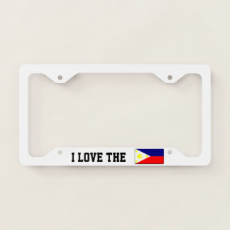 I love the Philippines License Plate Frame
