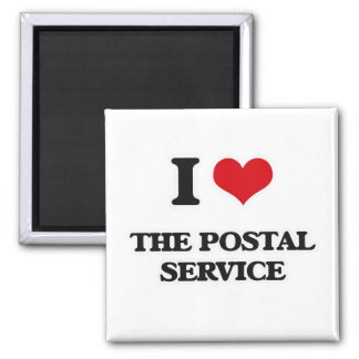 I Love The Postal Service Magnet